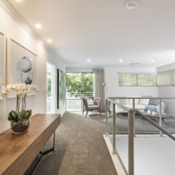 modern contemporary home staging upstairs area